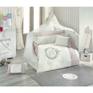سرویس ۹ تکه لحاف نوزاد کیدبو مدل Royal Vanilla VIP