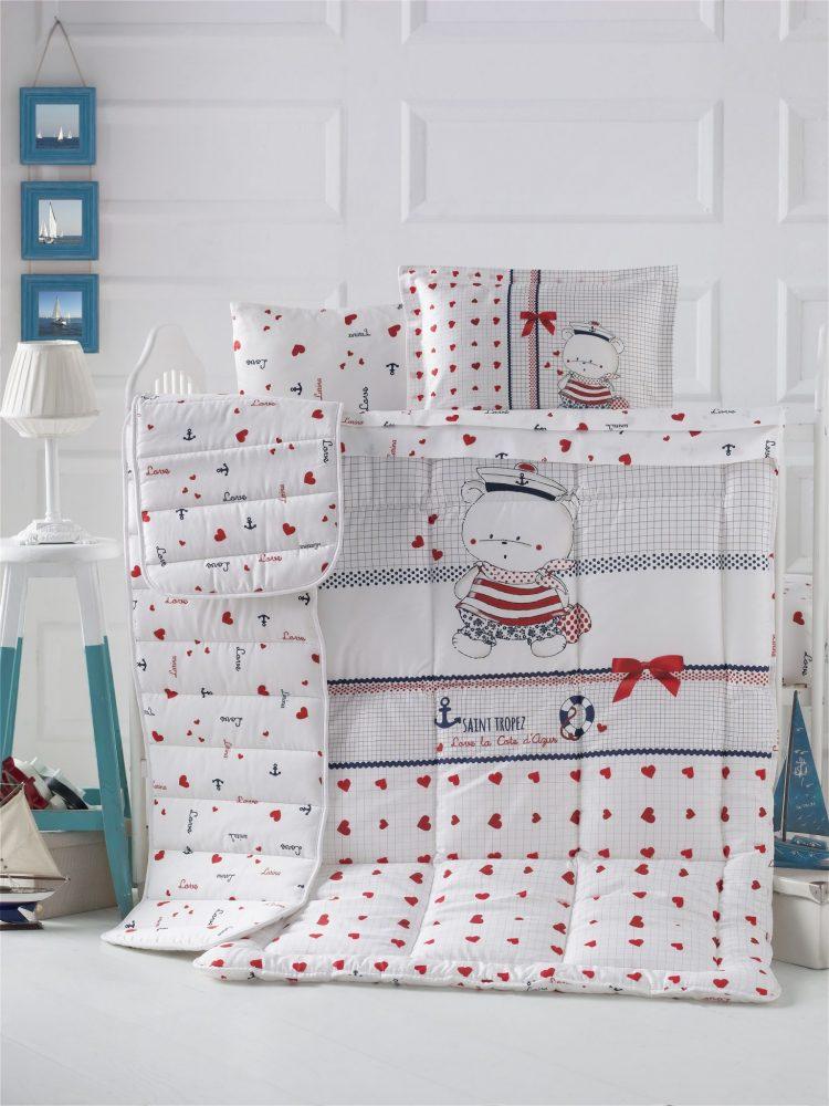 سرویس لحاف ۸تکه گارددار نوزاد مدل Larina برند لوکاپاتیسکا