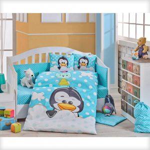 لحاف ست نوزادی هوبی طرح Penguin