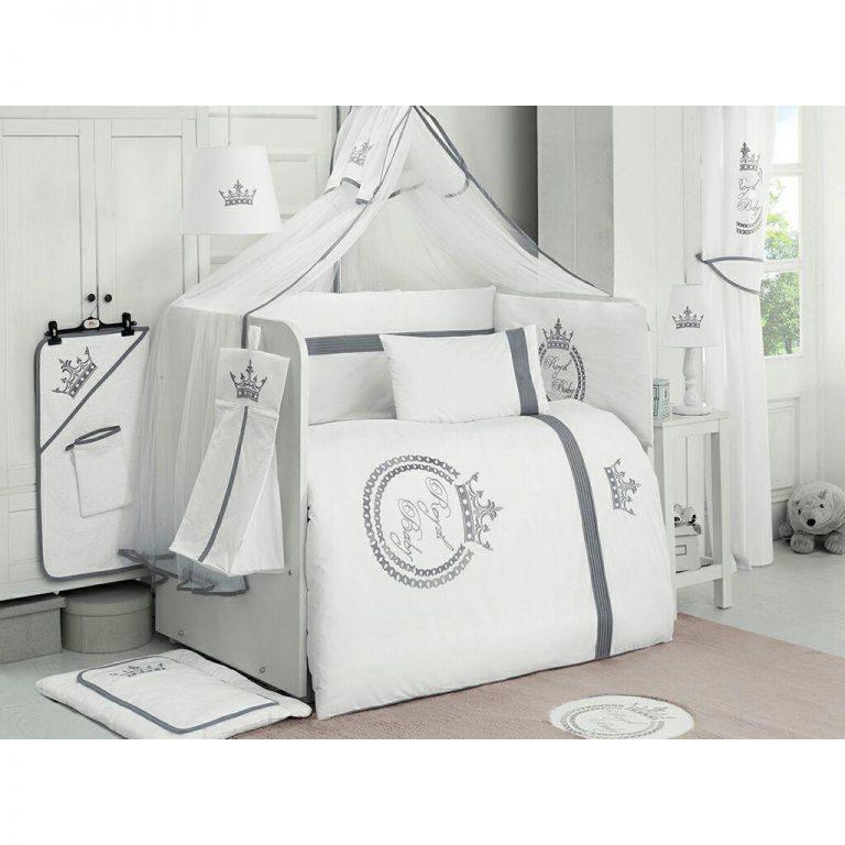 سرویس ۹ تکه لحاف نوزاد کیدبو مدل Royal White VIP